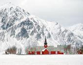 Winter harsh landscape in Lofoten Archipelago, Norway, Europe poster