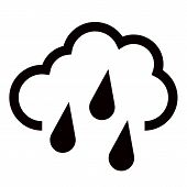 Hard Rain Icon In Trendy Flat Style Isolated On Background. Hard Rain Icon Page Symbol For Your Web  poster