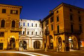 Ancient Roman Porta Borsari Gate In Verona At Night, Veneto, Italy