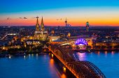 picture of dom  - Panorama of Cologne  - JPG