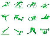 Постер, плакат: Спорт символ значки
