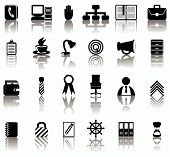 picture of black tie  - Set of twenty four black and white icons - JPG
