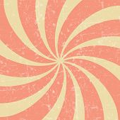 Retro vintage grunge hypnotic background.vector illustration