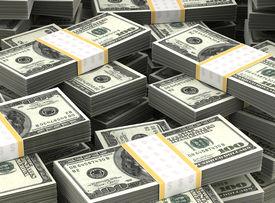 stock photo of billion  - Billion Dollars Background  - JPG