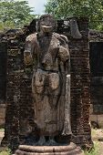 picture of polonnaruwa  - Statue in ancient temple Polonnaruwa Sri Lanka - JPG