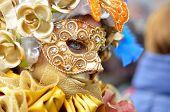 Постер, плакат: красочные художественные маски на Венецианский карнавал