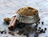 picture of garam masala  - Indian mix of ground spices garam masala