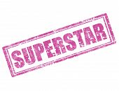 picture of superstars  - Grunge rubber stamp with word Superstar inside - JPG