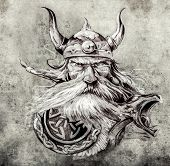 image of viking  - Tattoo art - JPG