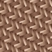wooden herringbone design