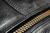 Black Leather Bag Detail