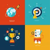 picture of globe  - Set of modern flat design concept icons - JPG