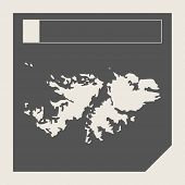 foto of falklands  - Falkland Islands map button in responsive flat web design map button isolated with clipping path - JPG