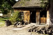 pic of blacksmith shop  - old historical blacksmith shop and his tools - JPG