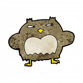 cartoon suspicious owl