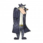 pic of trench coat  - cartoon man in hat and trench coat - JPG