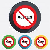 Gluten free sign icon. No gluten symbol.