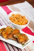 picture of crispy rice  - hearty meal crispy herbed chicken with java rice - JPG