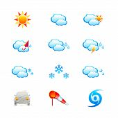 image of hurricane clips  - Colorful weather icon set isolated over white - JPG