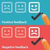 foto of positive negative  - Vector illustration of positive and negative feedback concept - JPG