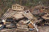 picture of wooden pallet  - Pollution - JPG