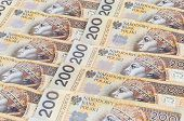 picture of zloty  - Background of 200 PLN  - JPG