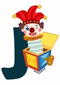 image of jack-in-the-box  - the letter j for jack in the box - JPG