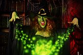 image of witches cauldron  - Fairy wicked witch in the wizarding lair - JPG