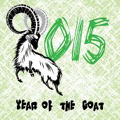 picture of stubborn  - Chinese symbol vector goat 2015 year illustration image design - JPG