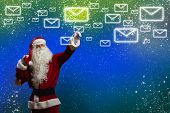 pic of letters to santa claus  - Santa Claus reading children letters with wishes - JPG