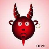 picture of deuce  - red evil cartoon devil from hell eps10 - JPG