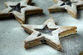 stock photo of shortbread  - shortbread stars  - JPG