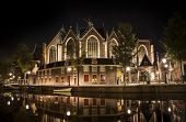 pic of church  - Romantic nocturnal view of Amsterdam - JPG