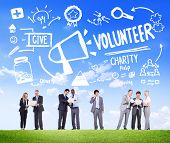 stock photo of charity relief work  - Volunteer Charity and Relief Work Donation Help Concept - JPG