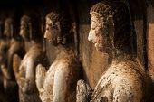 picture of buddha  - ancient buddha statue at Sukhothai historical park Sukhothai province Thailand - JPG