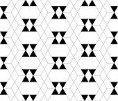 foto of trapezoid  - Black and white geometric seamless pattern with triangle and trapezoid abstract background vector EPS10 - JPG