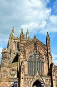 stock photo of hereford  - Front view of the Cathedral Hereford Herefordshire England UK Western Europe - JPG