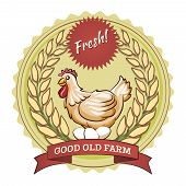 foto of poultry  - Poultry farm badge - JPG