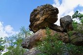 stock photo of ural mountains  - Unusual rock of mountain in the afternoon - JPG