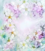 image of pastel colors  - Sweet color flowers in soft color and blur style for background - JPG