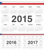 Постер, плакат: Vector Czech Circle Calendars 2015 2016 2017