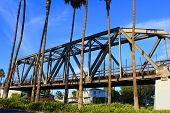 picture of trestle bridge  - Historic railroad trestle turned into a community walkway for recreation taken in Whittier - JPG