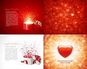 stock photo of valentine card  - Set Happy Valentine - JPG