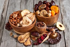 foto of mixed nut  - Mix of dried fruits and almonds  - JPG