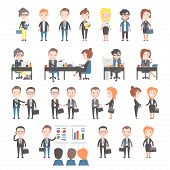 stock photo of office party  - Group of business and office people - JPG