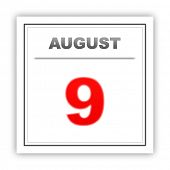 picture of august calendar  - August 9 - JPG