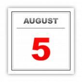 image of august calendar  - August 5 - JPG