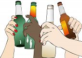 stock photo of drawing beer  - The Beer in Fest  - JPG
