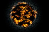 picture of nuke  - Explosion fire ball in the dark - JPG