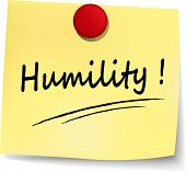 stock photo of humility  - illustration of humility yellow note concept sign - JPG
